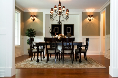 ... in style with a comprehensive dining room interior