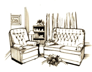 Interior Design Drawing Room on In Addition To Line  A Drawing Composition Can Be Defined Through The
