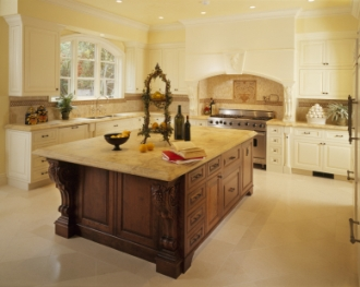 Modern Kitchen Design on Kitchen Features A Standard  Rectangular Shaped  Kitchen Island Design